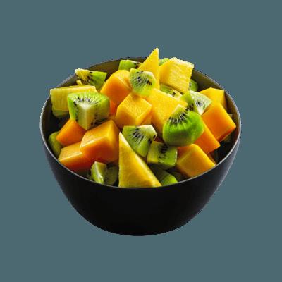Macedonia de fruta del momento
